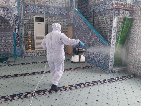 Canikte 7 bin 442 bina dezenfekte edildi