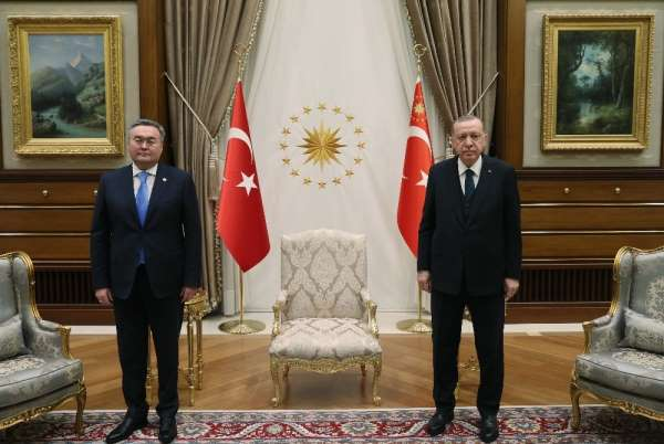 Cumhurbaşkanı Erdoğan, Kazakistan Başbakan Yardımcısı Tileuberdiyi kabul etti