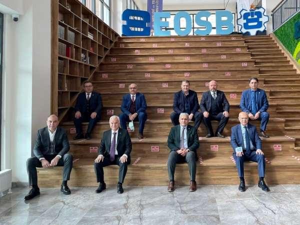 Ekonominin başkanları Özel EOSB Meslek Lisesinde incelemelerde bulundu