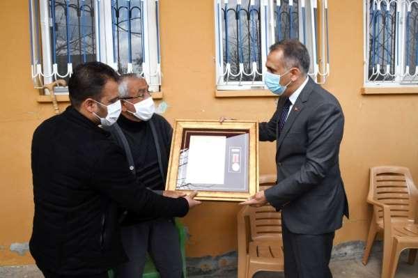 Vali Mahmut Çuhadar şehit ailelerini ziyaret etti