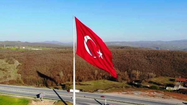 Türkiye'nin en büyük bayrağı Samsun'da dalgalanıyor