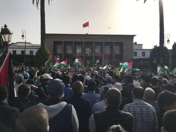 İsrail saldırıları, Fasın 50 farklı şehrinde protesto edildi