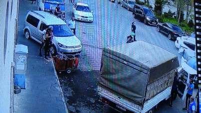 Gaziantep'teki zincirleme kaza güvenlik kamerasına yansıdı