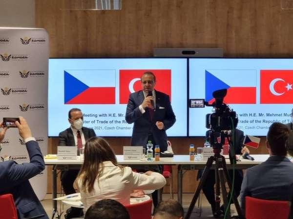 Bakan Muş, Çekyada özel sektör temsilcileriyle görüştü