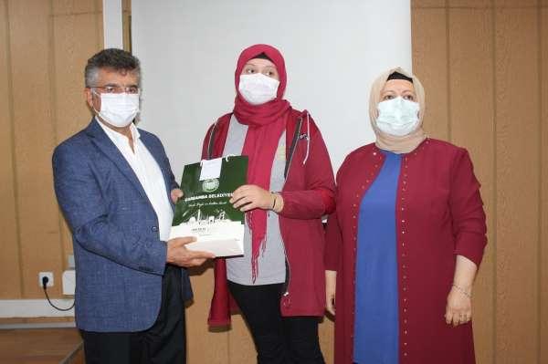 Dereceye giren öğrencilere ödülleri verildi