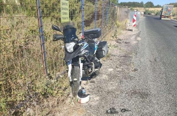 Ayvacık'ta motosiklet kazası: 1 yaralı