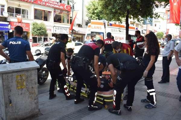Malatyada motorize polis ekipleri kaza yaptı: 2 yaralı