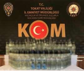Tokat'ta kaçak alkol operasyonu