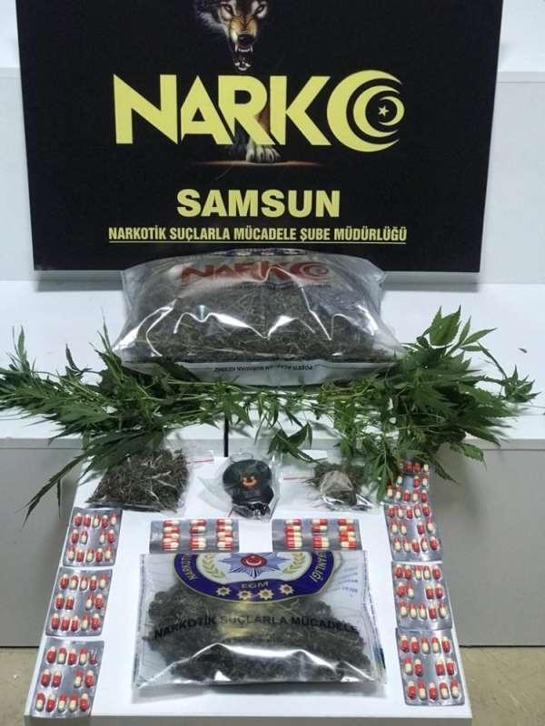 Samsun narkotikten uyuşturucu operasyonu: 2 gözaltı