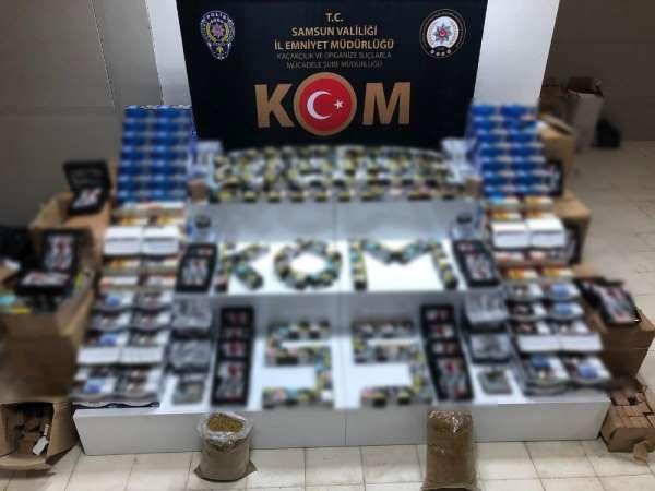 Samsun'da kaçak tütün mamulü operasyonu: 2 gözaltı