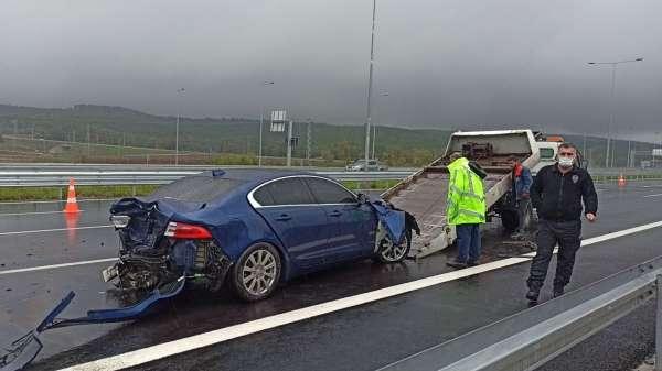 Kuzey Marmara Otoyolunda 4 araçlı zincirleme kaza: 1 yaralı