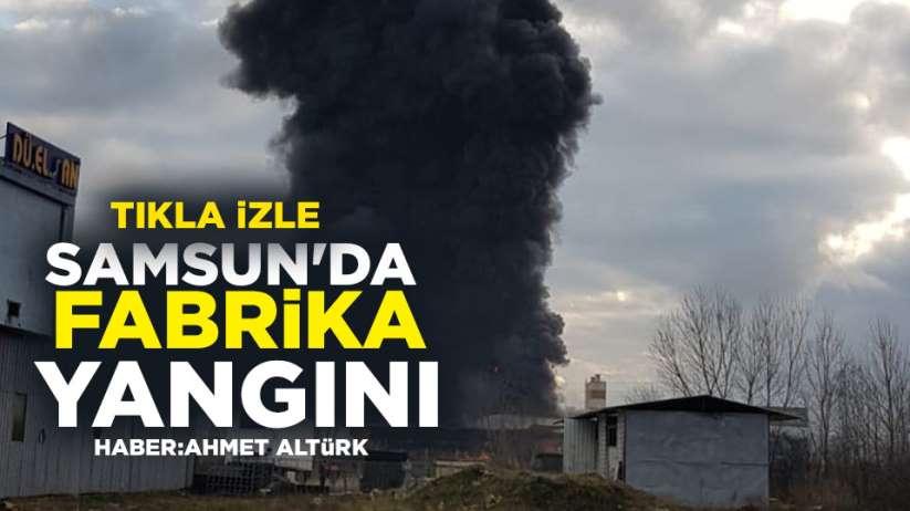 Samsun'da dış cephe ısı yalıtım ürünleri fabrikasında yangın