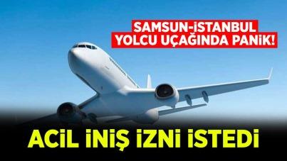 Samsun-İstanbul yolcu uçağında panik!