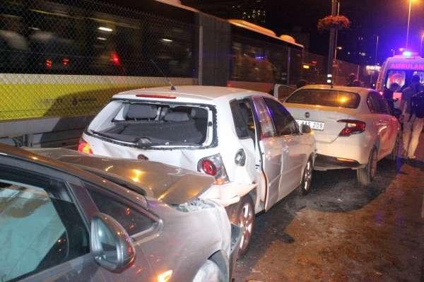 Mecidiyeköy'de zincirleme kaza: 3 yaralı