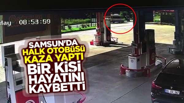 Samsun'da özel halk otobüsü kaza yaptı bir kişi öldü