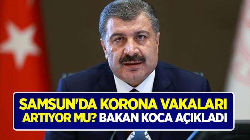 Samsun'da korona vakaları artıyor mu? Bakan Koca açıkladı