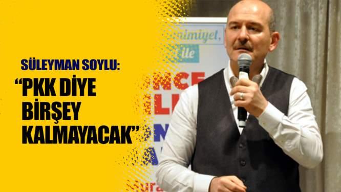 Soylu: PKK diye bir şey kalmayacak