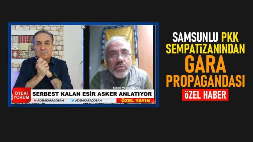 Samsunlu PKK sempatizanından Gara propagandası