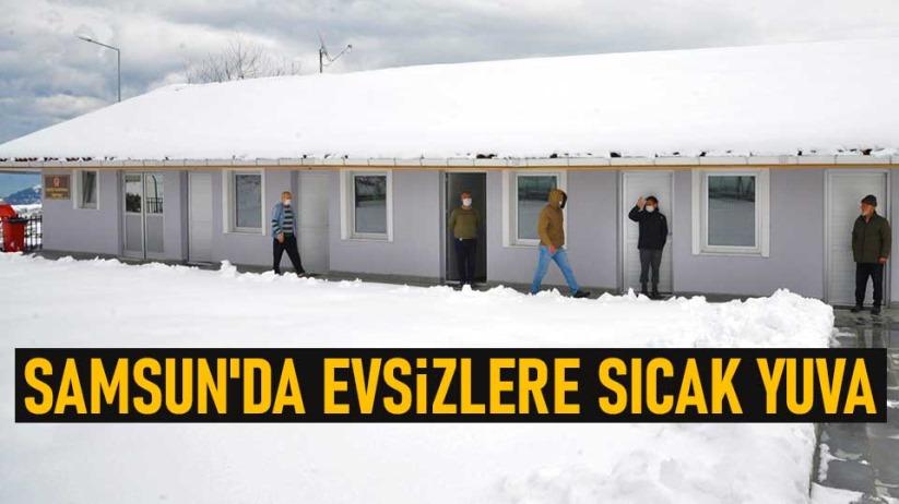 Samsun'da evsizlere sıcak yuva