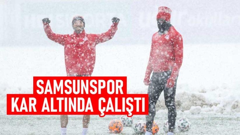 Samsunspor Kar Altında Çalıştı