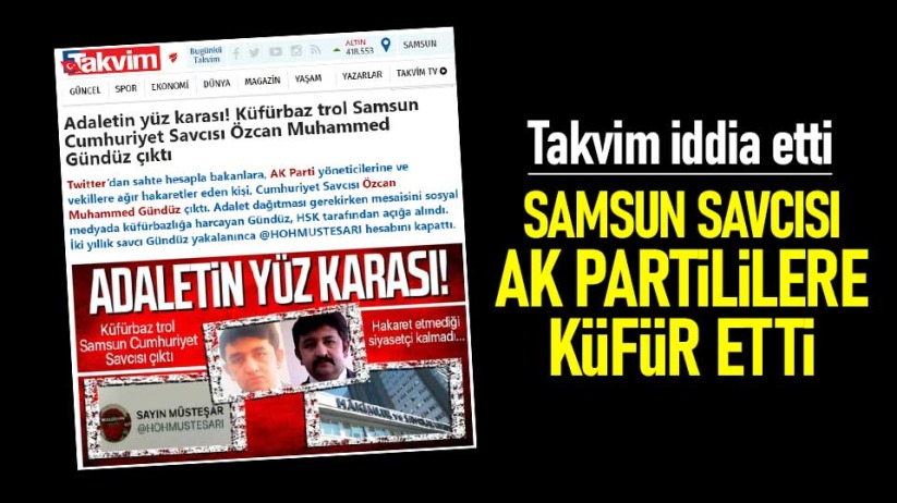 Samsun Savcısı, AK Partililere küfür etti iddiası