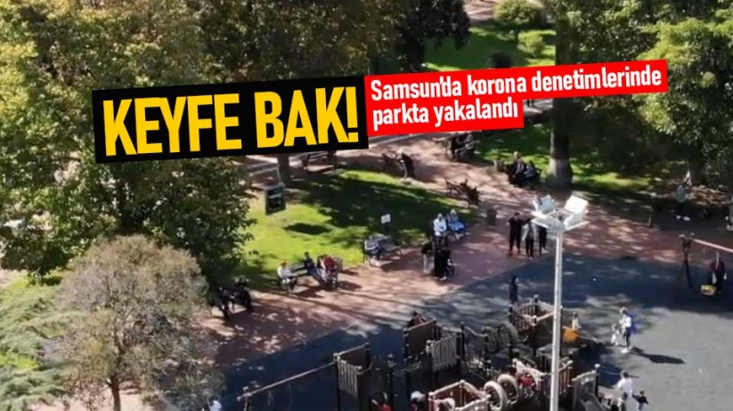 Samsunda riskli vatandaş parkta yakalandı