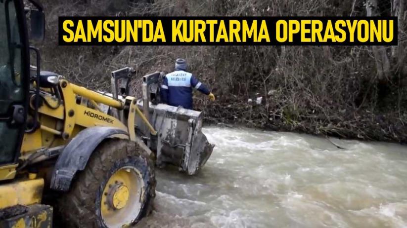 Samsunda kurtarma operasyonu