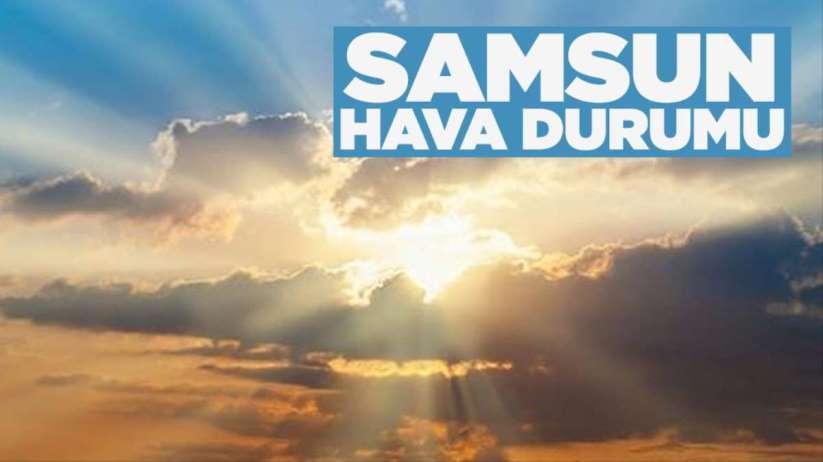 Samsun'da hava durumu 17 MayısPazar