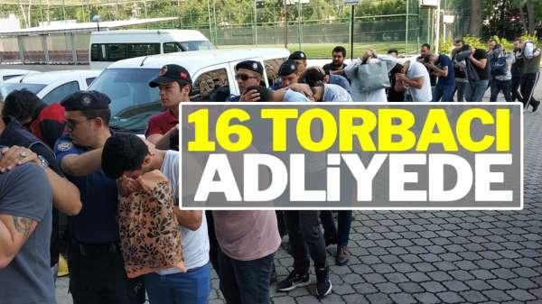 Samsun'daki operasyonda 16 torbacı gözaltına alındı