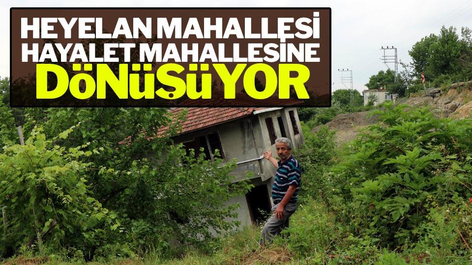 Samsun'da heyelan bu mahalleyi yıktı geçti