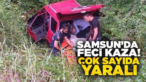Samsun'da korkunç kaza! Yaralılar var