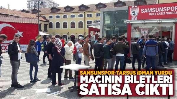 Samsunspor Tarsus İdman Yurdu maçının biletleri satışa çıktı