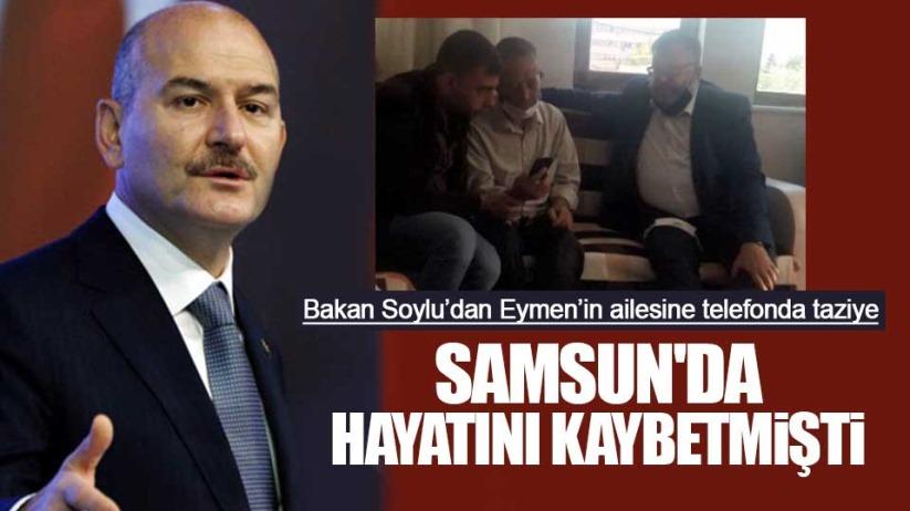 Bakan Soylu'dan Samsun'da Eymen'in ailesini aradı