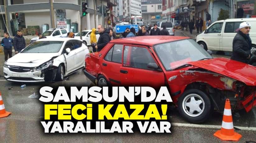 Samsun'da feci kaza! Yaralılar var