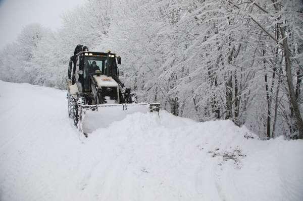 Atakum Belediyesinden karla mücadele