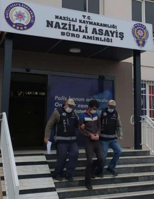 Nazillide cinsel saldırı ve hırsızlık suçlusu yakalandı