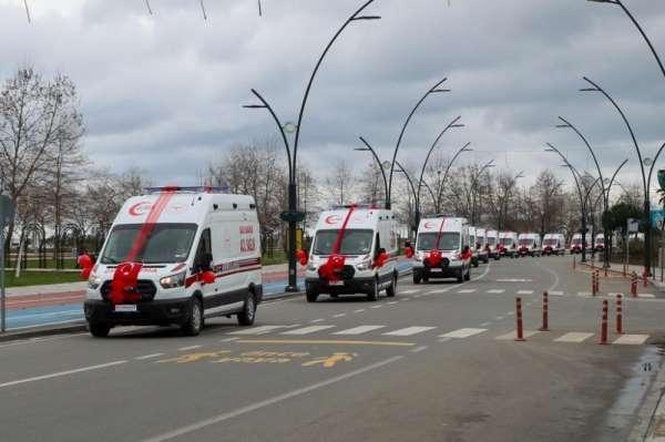 Orduya 13 yeni tam donanımlı ambulans