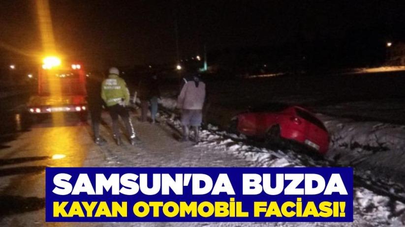 Samsun'da buzda kayan otomobil faciası!
