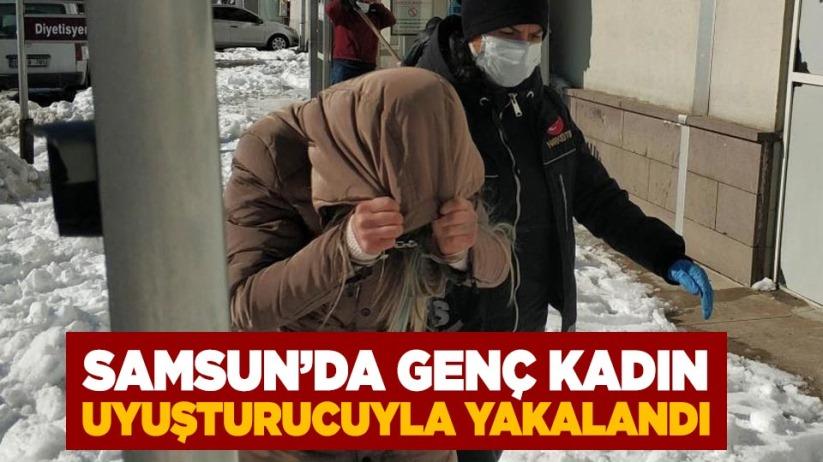 Samsun'da genç kadın uyuşturucuyla yakalandı