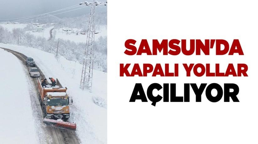 Samsun'da kapalı yollar açılıyor