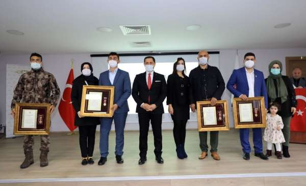 Amasyalı gazilere Devlet Övünç Madalyası ve Beratı verildi