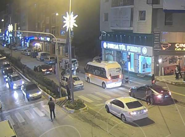 Bozüyükteki trafik kazaları mobese kameralarında