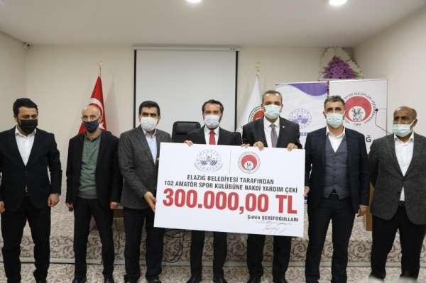 Elazığ Belediyesinden amatör kulüplere destek