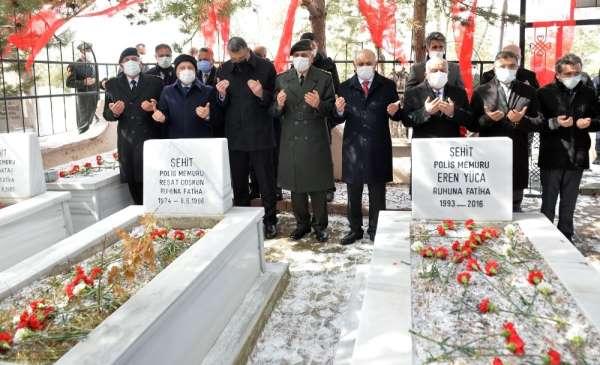 Erzurum Şehitliğinde 18 Mart töreni