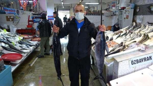 Karadenizde yeterli av olmayınca Trabzon Balık Halinde İzmir ve İstanbuldan gelen balıklar satışa sunuldu