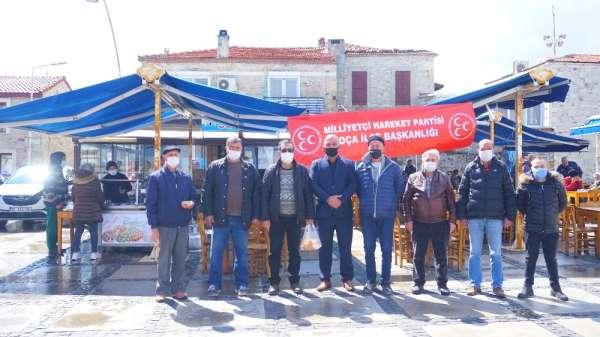 MHP Foça teşkilatından şehitler anısına lokma hayrı