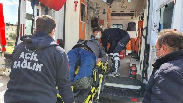 Nazillide trafik kazası: 1 yaralı