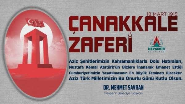 Savran, 18 Mart Çanakkale Zaferi ve Şehitler Anma Günü mesajı yayımladı