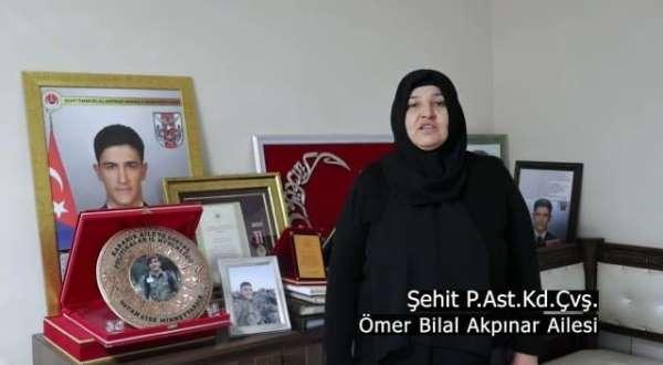 Şehit aileleri ve gazilerden İstiklal Marşlı, Çanakkale klibi