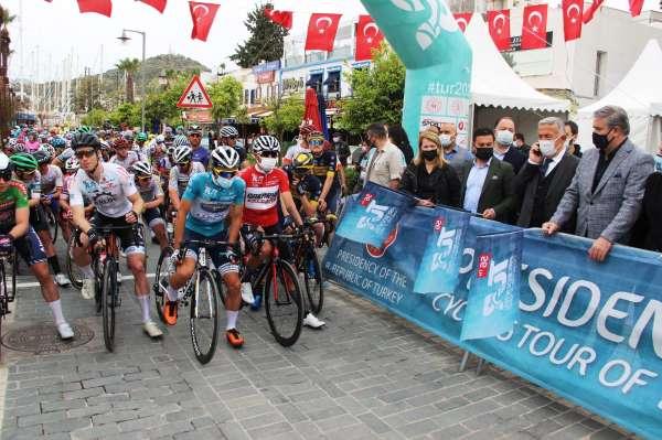 56. Cumhurbaşkanlığı Türkiye Bisiklet Turunda son etap Bodrumdan start aldı